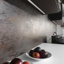 Outdoor tile / wall-mounted / porcelain stoneware / metallized