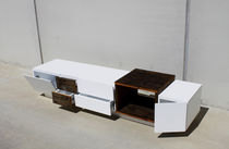 Original design sideboard / solid wood / matte lacquered wood / custom