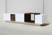 Original design sideboard / solid wood / matte lacquered wood / custom