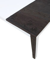 Original design table / solid wood / lacquered MDF / rectangular