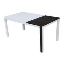 Original design table / solid wood / lacquered MDF / rectangular