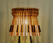 Floor-standing lamp / original design / iron / wooden
