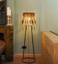 Floor-standing lamp / original design / iron / wooden