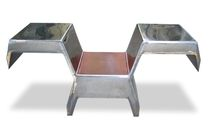 Original design chair / leather / stainless steel / iron