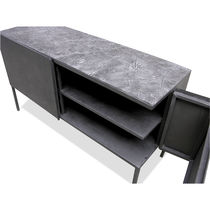 Sideboard with long legs / original design / lacquered metal / concrete
