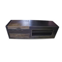 Industrial style sideboard / oak / iron / sheet steel