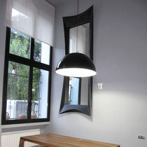Wall-mounted mirror / original design / rectangular / square