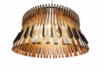 Original design chandelier / wooden / incandescent / handmade