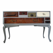 Sideboard with long legs / original design / lacquered wood / oak