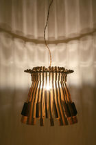 Original design chandelier / wooden / incandescent / handmade