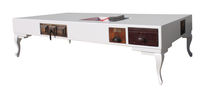Coffee table / original design / wooden / lacquered wood