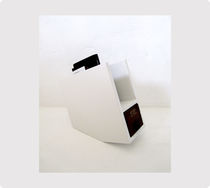 Original design magazine rack / residential / lacquered wood