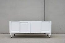 Original design sideboard / wooden / lacquered wood / with shelf