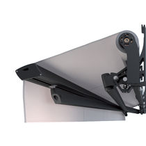 Folding-arm awning / manual / commercial