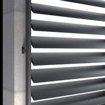 Aluminum solar shading / for facades / vertical