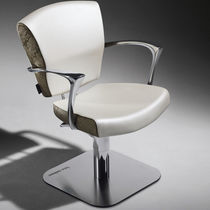 Synthetic leather beauty salon chair / aluminum / swivel / adjustable-height