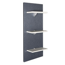 Wall-mounted display rack / beauty product / wooden / panel