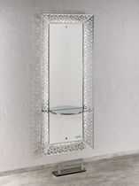 Contemporary dressing table / glass / wall-mounted / for hairdressers