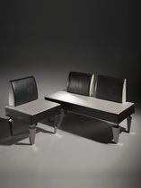 Contemporary upholstered bench / leather / for healthcare facilities / black