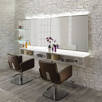 Contemporary dressing table / aluminum / wall-mounted / for hairdressers