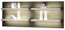 Wall-mounted shelf / contemporary / wood / for professional use