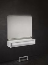 Wall-mounted mirror / contemporary / rectangular / with storage compartment