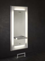 Contemporary dressing table / stainless steel / Plexiglas® / wall-mounted