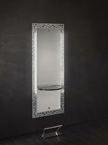 Contemporary dressing table / metal / wall-mounted / for hairdressers
