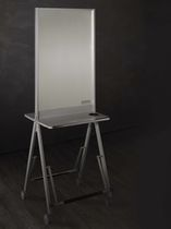 Contemporary dressing table / wood / for hairdressers / 2-seater