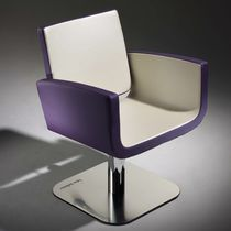 Synthetic leather beauty salon chair / steel / WPC / central base
