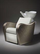 Shampoo chair with footstool