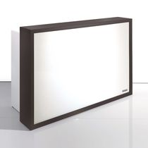 Upright reception desk / Plexiglas® / laminate / illuminated