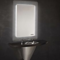 Contemporary dressing table / stainless steel / wall-mounted / for hairdressers