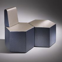 Contemporary pouf / coated foam / modular / commercial