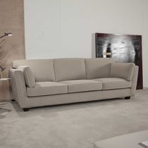 Contemporary sofa / fabric / 3-seater / beige