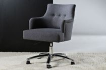 Contemporary office armchair / textile / swivel / on casters