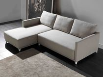 Corner sofa / contemporary / leather / 2-seater