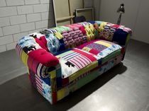 Chesterfield sofa / cotton / velvet / silk