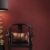 Vinyl wallcovering / textured / leather look / residential
