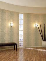 Vinyl wallcovering / printed / fabric look / residential