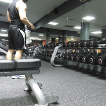 Rubber sports flooring / EPDM / for indoor use / for multipurpose gyms