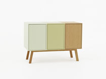 Contemporary sideboard / lacquered wood / lacquered MDF / modular