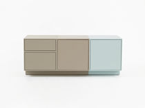 Contemporary sideboard / lacquered wood / lacquered MDF / wood veneer