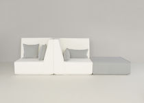 Modular sofa / contemporary / fabric / back-to-back