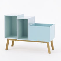 Contemporary sideboard / lacquered wood / lacquered MDF / MDF