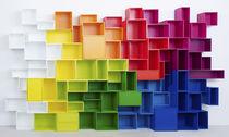 Modular shelf / contemporary / wooden / shop
