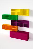 Modular shelf / contemporary / MDF / commercial