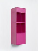 Wall-mounted bookcase / contemporary / MDF / lacquered MDF