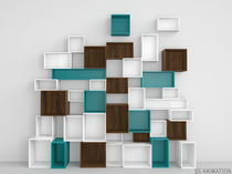 Wall-mounted shelf / contemporary / MDF / lacquered MDF
