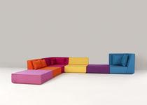 Modular sofa / contemporary / 6-seater / multi-color